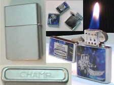 BRIQUET Ancien -CHAMP Slim Tempête - Vintage fuel LIGHTER Feuerzeug Accendino