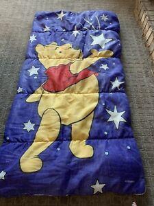 Vintage Winnie the Pooh Stars Sleeping Bag Camping Sleepovers