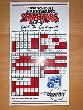 1990 HARRISBURG SENATORS MINOR LEAGUE BASEBALL SCHEDULE MAGNET ROLLING ROCK BEER