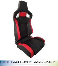 Sedile Sportivo Type RS6 PVC eco pelle rossa reclinabil Colore Nero e rosso new