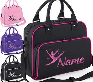 Personalised Dance Bag Girls Gymnastics Glitter Ballet Childrens School Case