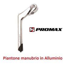 0210 Piega/Piantone Manubrio Promax Alluminio per bici 26-28 Corsa Pista Vintage
