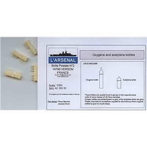 Bouteilles oxygène et acétylène 1/350