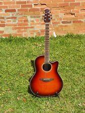 Ovation Celebrity CS24 Standard Mid-Depth Cutaway A/E Guitar #9244 Sunburst