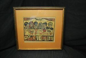29x19 Irving Amen Signed Print Many Children Dwell In my Father's House 12/200