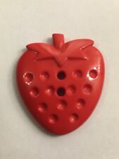 Strawberry Buttons 2 Hole Red 34 X 30mm Pack Of 6