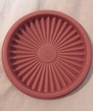 "Vintage Tupperware Servalier Replacement 5 1/8"" Round Dusty Pink Mauve Lid #812"