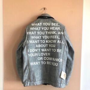 "Junya Watanabe Comme des Garcons Homme S/S 2000 ""Poem"" Reversible Denim Jacket"