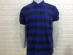 Sergio tacchini men's lewisham polo shirt retro look S M navy blue stripe bnwt