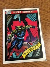 IMPEL MARKETING 1990 MARVEL COMICS SUPERHEROES WOLVERINE CARD # 37 NEAR MINT