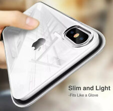 For iPhone X Shock Proof Crystal Clear Case Soft Silicone Gel Bumper Cover Slim