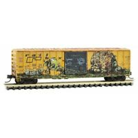 Railbox 50' Ribside Box Car 'Gorilla' Weathered Graffiti MTL #025 51 561 N Scale