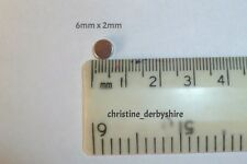 10 x forte Terre Rare Néodyme Aimants Reborn/CRAFT/mannequin 6 mm x 2 mm