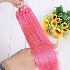 7A 16-26Inch 100% Remy Human Hair Extensions Loop Micro Ring Beads
