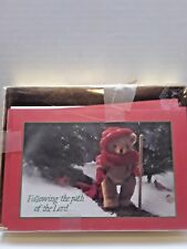 Ii Corinthians 9:15 Bears Rejoicing Christmas Greeting Cards 7 count