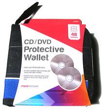 Blue & Nero 48 CD DVD Disc Custodia Supporto Storage Protettiva Portafoglio AUTO CASA