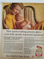 1962 Heinz baby diaper food improved nutrition mother child ad