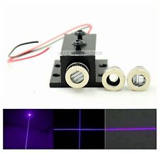 20mw 405nm Violet/Blue Adjustable Laser Dot/Line/Cross Module with Heatsink