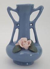"Vintage Small Vase Made in Japan Purple Pink Flower 4 1/4"" Decorative"