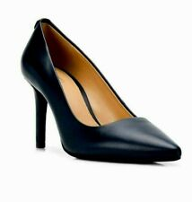 Michael Kors Classic Black Leather Pointed Toe Stiletto High Heel Pump Size 8.5M