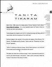 Vintage Original 1992 Tanita Tikaram Promo 1pg Doublesided