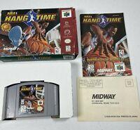 NBA HangTime (Nintendo 64, 1997) N64 Complete Tested Works 0970