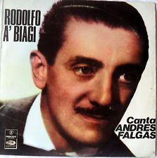Rodolfo ein Biagi-Canta Andres Falgas-cielo-Vida Mia-cicatrices-Odeon 1974 VG + +