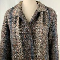 Vintage 70s MJ Seattle Jacket Coat Knit Boucle Yarn Multicolored Striped Mohair