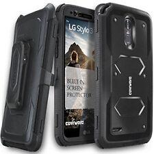 Heavy Duty Full-Body Armor Case & Built-In Screen Protector for LG Stylo 3/Plus