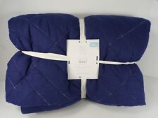 Pottery Barn Kids Sutter Voile Quilt Full Queen Navy #6962