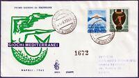 1963 - FDC Venetia - Giochi del Mediterraneo - Viaggiata - n.205It