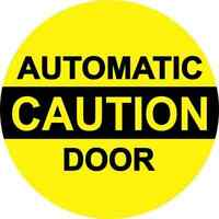 6in x 6in Caution Automatic Door Sticker Car Truck Vehicle Bumper Decal