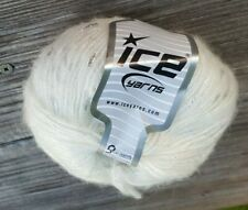 Sale! One Skein Ice Mohair Blend Yarn In Crystal Silver