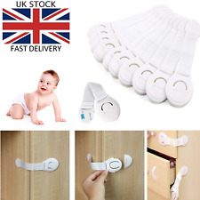 5x  Safety Baby Kid Child Lock Proof Cabinet Cupboard Drawer Fridge Pet Door UK