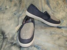 MUKLUK Womans Slip On Loafers Shoes Denim Blue Silver Rhinestones Size 9 NWT