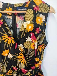 Princess Highway | Tropical Parrot Romper | Size 10 | 100% Cotton | Tie Belt