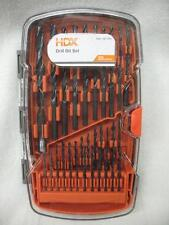 New HDX Drill Bit Set 35 pc Black Oxide Multi-Purpose Wood Metal PVC 1/16 - 5/16