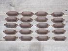 20 CAST IRON BROWN ORNATE PULLS DRAWER CABINET BIN HANDLES RUSTIC VINTAGE