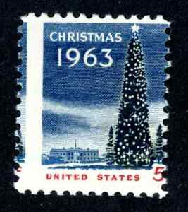 EFO 1283 MISPERFED SINGLE 1963 CHRISTMAS ISSUE