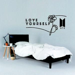 BTS Love Yourself Wall Sticker K pop Naklejka wall art decor Decal Print Decor