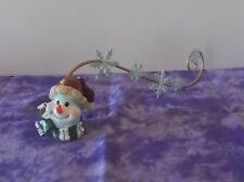 Cute Home Interior Snowman with Scarf Candle Snuffer with Snowflake Handle