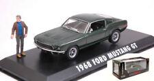 Ford Mustang BULLIT 1968 w/ Steve McQueen Figure 1:43 Model GREEN LIGHT