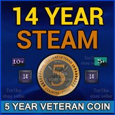14 Year Old Original Mail NO Limits Steam 5 year veteran coin for CSGO (CS:GO)