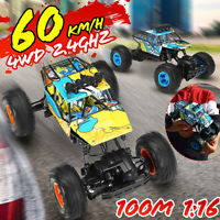 1/16 RC Car Truck 4WD 2.4G Off Road Remote Control Crawler High Speed Gift Toys