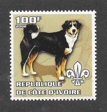 Dog Art Body Portrait Postage Stamp Appenzeller Sennenhund Cote D'Ivoire Mnh