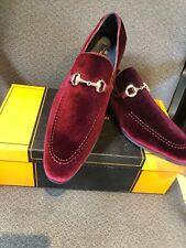 NEW La Milano Burgundy Loafer Men's Dress Velvet Shoes Size 13
