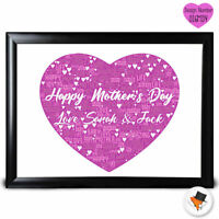 Personalised Heart Colour Present Mothers Day Gifts Mum Mummy Nan Birthday