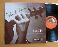 ALP 1532 Yehudi Menuhin Bach Sonatas For Solo Violin EXCELLENT HMV Red Gold Mono