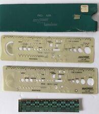 Rapid Design Electrical Template Drawing Drafting + Ruler C F Temp