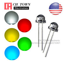 5 Lights 100pcs 5mm LED Diodes Straw Hat White Red Green Blue Yellow Mix Kits